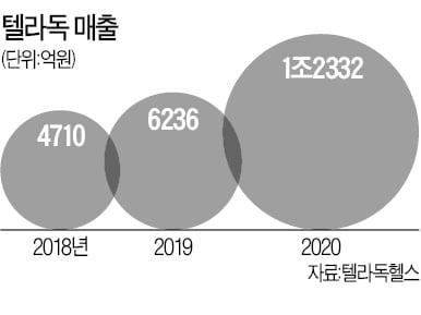 """美 원격의료 시장 커진다…""""대장株 텔라독 올 매출 80% 증가"""""""