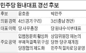 與 원내대표 경선 '親文 vs 非文' 대결