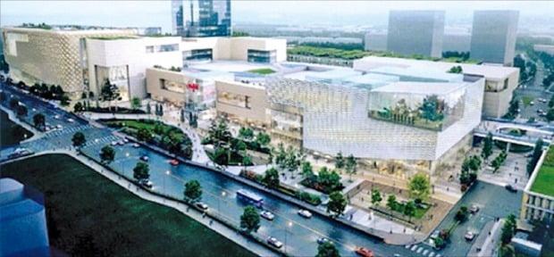 청라 스타필드 조감도. 신세계그룹은 프로야구단 SSG 랜더스를 인수하며 인천 청라에 스타필드와 함께 첨단 돔구장을 짓겠다는 구상을 내놨다.  /뉴스1
