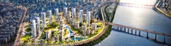 서울 강남구 압구정3구역(현대1~7, 10·13·14차·대림빌라트)이 추진한 49층 높이의 재건축 조감도.
