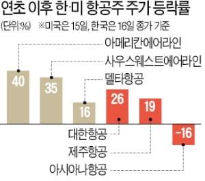 韓·美 항공주 수익률, 백신접종률이 갈랐다