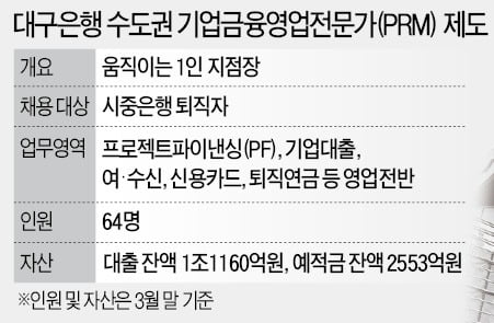 대구銀이 투입한 '퇴직용병' 수도권서 맹활약