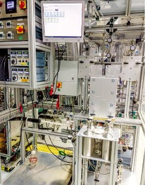 독일 프라운호퍼IMM이 개발 중인 암모니아 연료전지 관련 설비.