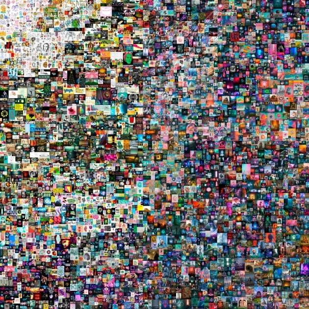 디지털 아티스트 비플의 작품 '매일: 첫 5000일'(Everydays: The First 5000 Days) /AFP연합뉴스