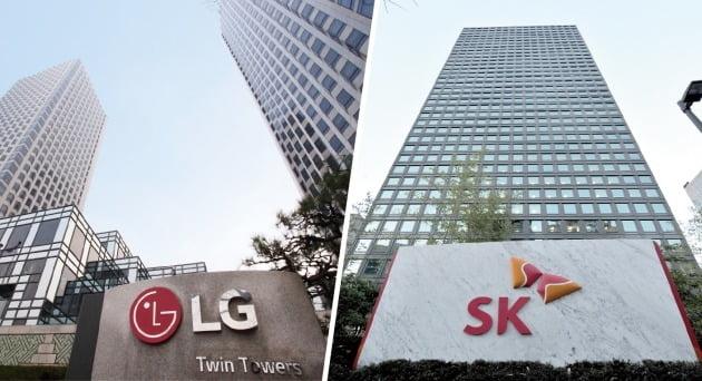 LG그룹과 SK그룹 사옥 전경 /한국경제신문