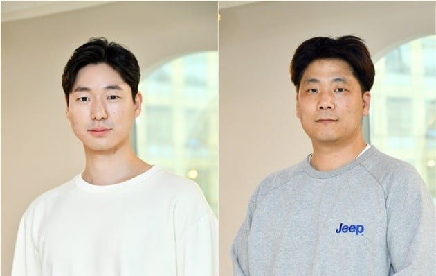 LG전자 사람중심 사무직 노동조합의 유준환 위원장(왼쪽)과 최대성 부위원장.  /서범세 기자