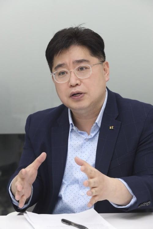 채욱 KT ESG추진 담당 팀장이 한경비즈니스 인터뷰에 응하고 있다.  /KT 제공
