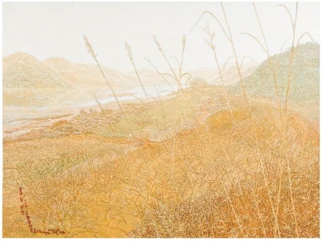 '친구가 권유한 풍경-되돌아온 나루', 2000~2003년, 캔버스에 유채, 96×130cm