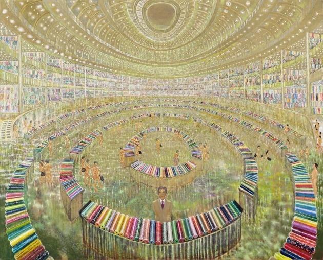 '비단박람회', 2011~2015년, 캔버스에 유채, 181.8×227.8cm