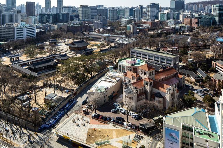 서울 정동 세실극장 옥상, 역사조망 휴식공간으로 개방