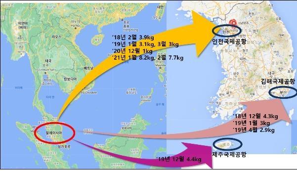한국 검찰-말레이 경찰 공조해 국제마약조직 적발