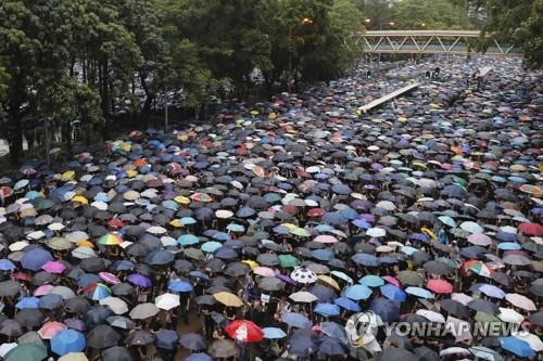 홍콩 야권 저명 활동가 7명 불법집회 가담 혐의로 유죄