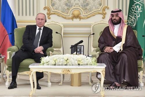 """푸틴-무함마드 사우디 왕세자 통화…""""환경 문제 협력 중점 논의"""""""