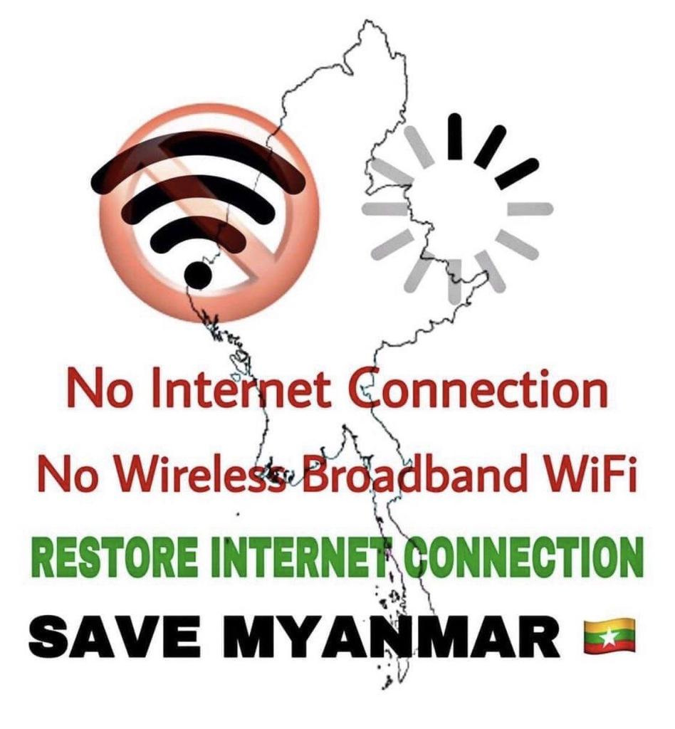 미얀마 군부, 이젠 무선인터넷까지 차단…540명 이상 사망
