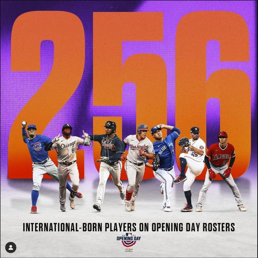 MLB 개막전 로스터서 미국 외 국적 선수 256명…한국 4명