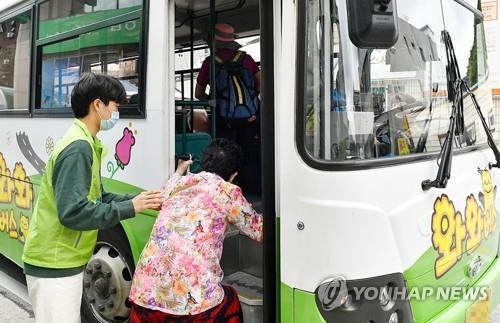 정선군 공영버스 '인기'…한 달 이용객 군민의 1.3배