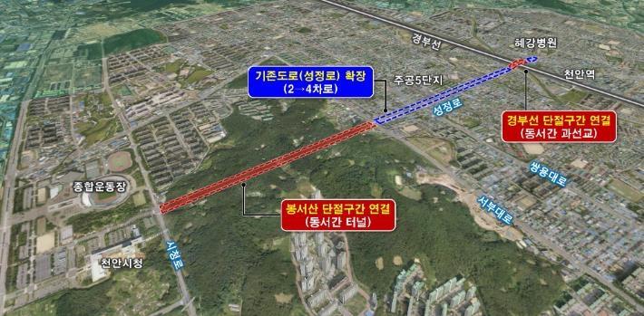 천안시 2027년까지 3천500억원 들여 4개 도로교통망 개선