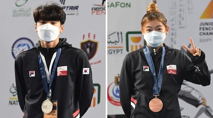 한국 펜싱, 세계청소년대회 남녀 플뢰레 개인전서 메달 추가