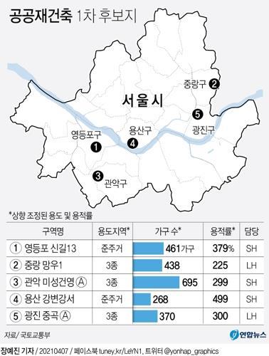 50년된 이촌동 강변강서맨션 등 5개 단지 공공재건축 추진(종합)