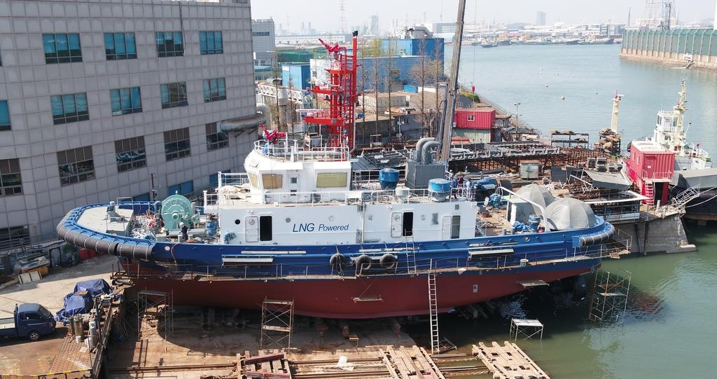 국내 최초 LNG 추진 친환경 예인선 올해 인천항에 뜬다