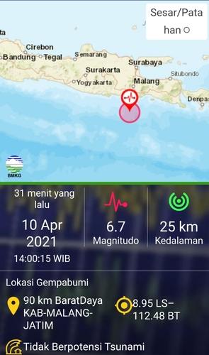 인니 자바섬 남부해역 6.0 강진…1명 사망·건물 다수 파손(종합)