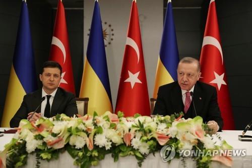 러시아와 긴장 고조 속 우크라·터키 정상 회담