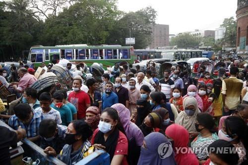 코로나19 급속 확산에 방글라, 일주일간 항공 운항 중단