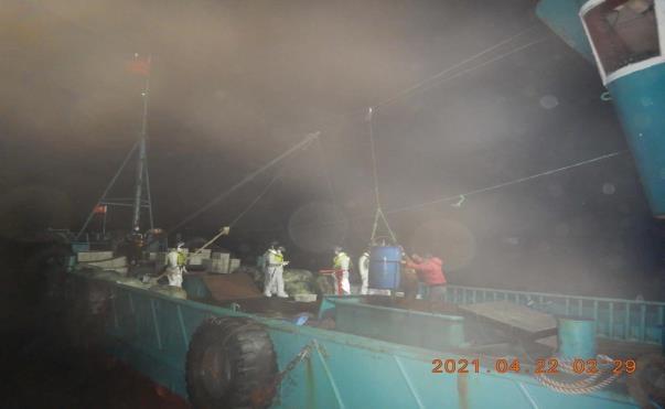 전남 신안 해상서 '서류 허위기재' 중국 어획물운반선 1척 나포