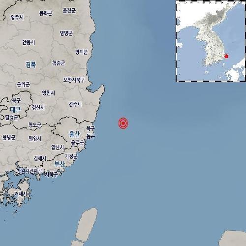 """기상청 """"울산 동구 동북동쪽서 규모 2.5 지진 발생"""""""