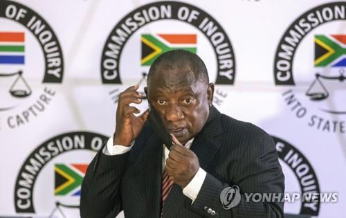 라마포사 남아공 대통령, 부패 조사위서 '이례적' 증언