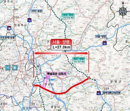 서울∼양평 고속도로 예타 통과…이르면 2025년 착공