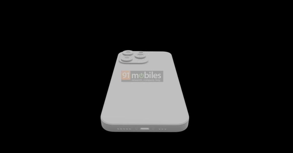 아이폰13 CAD 렌더링 이미지(사진: 91모바일)