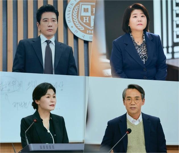 '로스쿨'에 출연하는 배우 김명민(왼쪽 위부터 차례로), 이정은, 길해연, 오만석 / 사진제공=JTBC 스튜디오, 스튜디오 피닉스, 공감동 하우스
