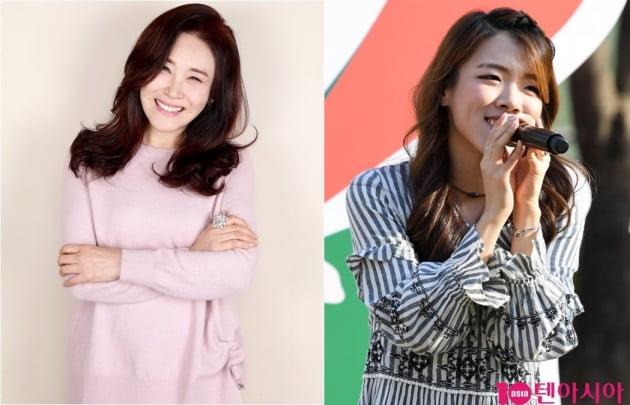 가수 주현미(왼쪽) 딸 임수연/ 사진=모스트콘텐츠, 텐아시아DB