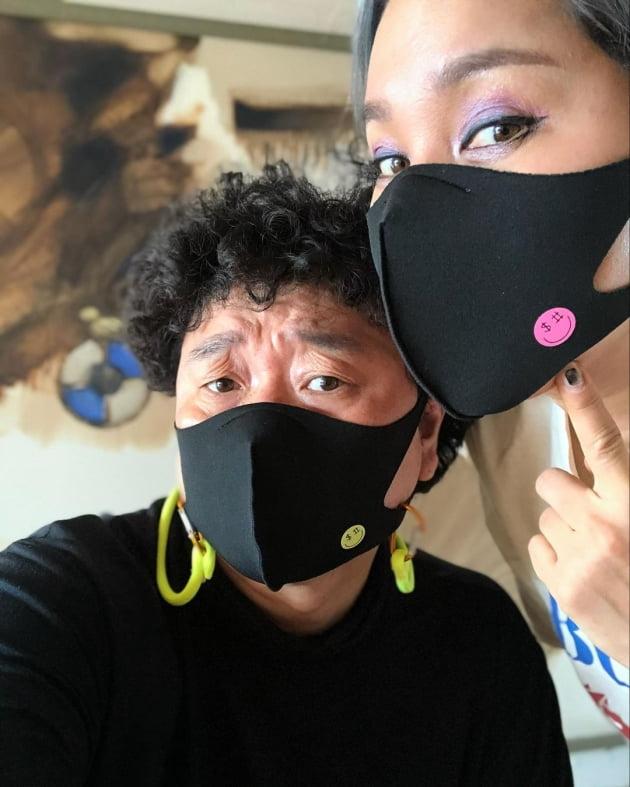 가수 강원래(왼쪽)와 김송 부부/ 사진=인스타그램