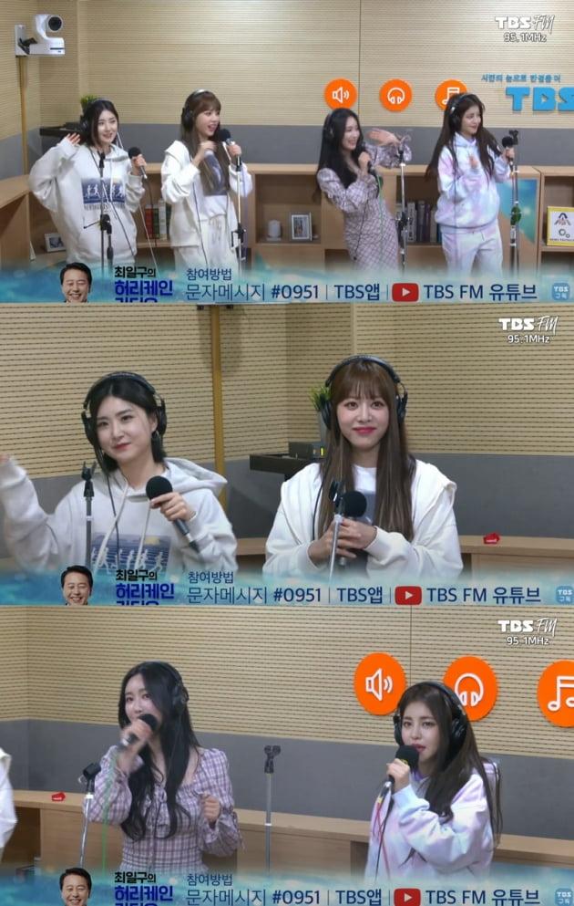 '최일구의 허리케인 라디오' 브레이브걸스 / 사진 = TBS 제공