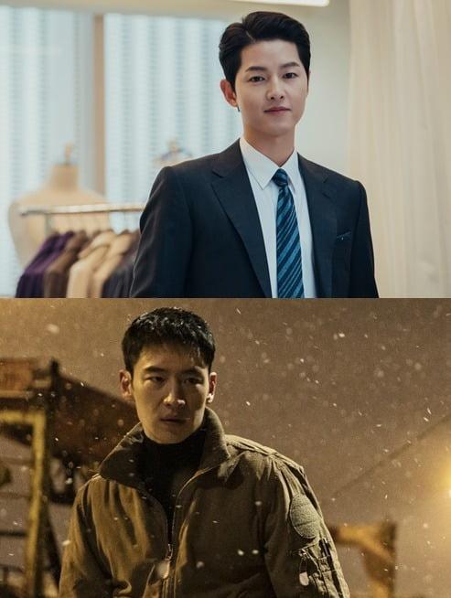 '빈센조' 송중기(위)와 '모범택시' 이제훈/ 사진=tvN, SBS 제공