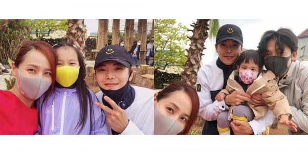 박은석과 유진 가족이 제주서 만났다./ 사진=인스타그램 캡처