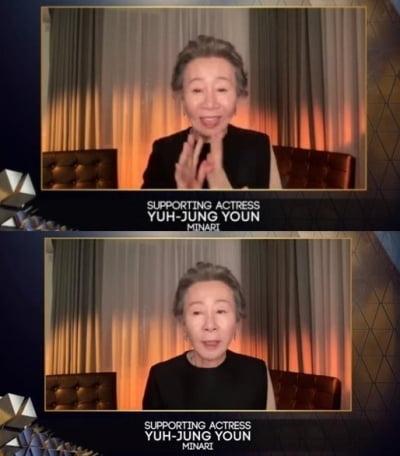 """'英아카데미 여우조연상' 윤여정 """"고상한 체 하는"""""""