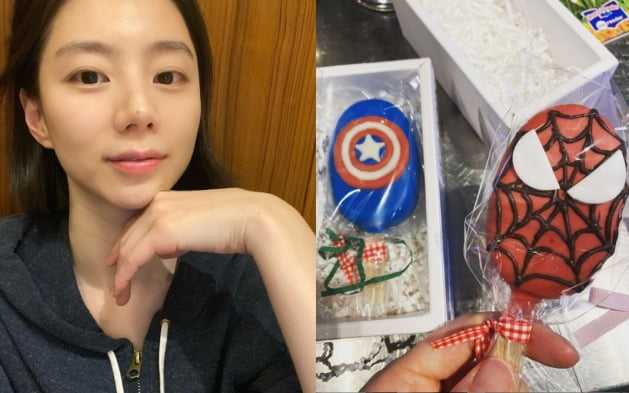 배우 박수진(왼쪽)이 공개한 간식/ 사진=인스타그램
