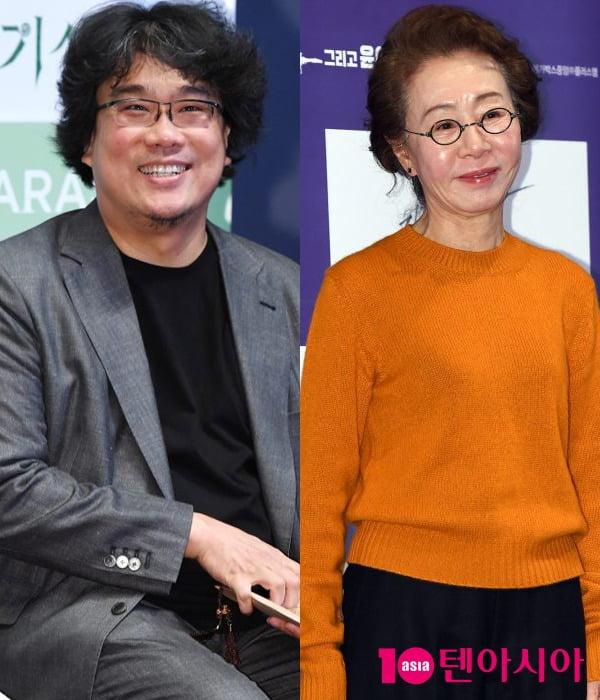 봉준호 감독(왼쪽), 배우 윤여정 / 사진=텐아시아DB