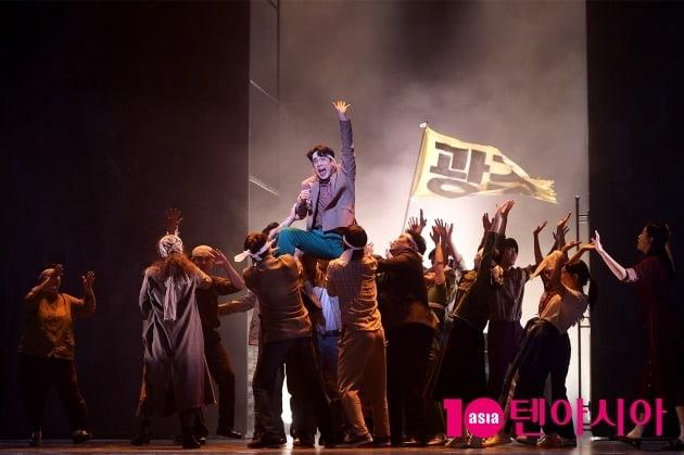뮤지컬 '광주'의 한 장면.