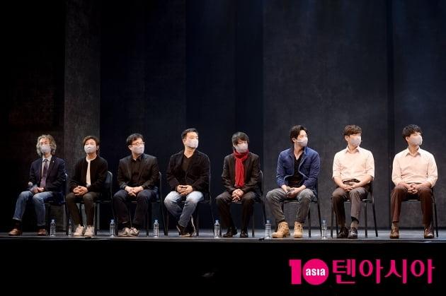 [TEN 포토] 뮤지컬 '광주', 전원 마스크 쓰고 진행된 기자간담회