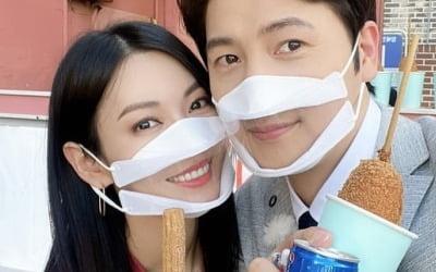김소연♥이상우, 꿀 떨어지는 '투명 마스크'