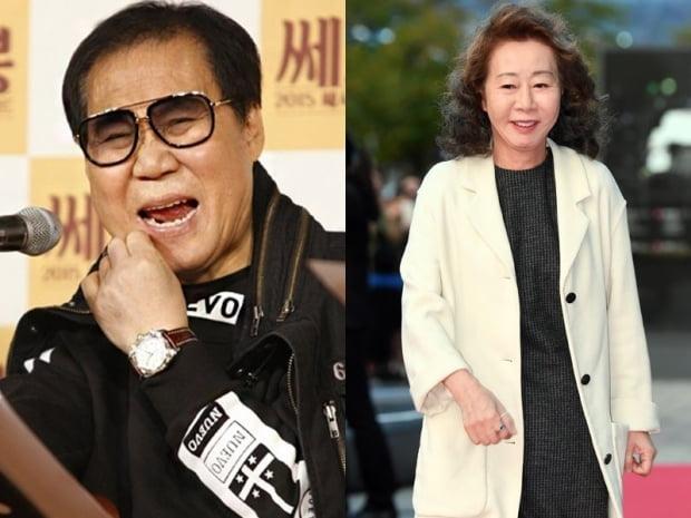가수 조영남(왼쪽)과 배우 윤여정 / 사진=텐아시아DB