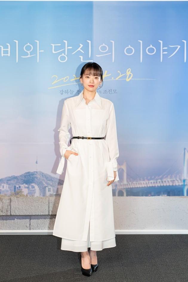 배우 천우희가 20일 진행된 영화 '비와 당신의 이야기' 언론시사회에 참석했다. / 사진제공=키다리이엔티, 소니 픽쳐스