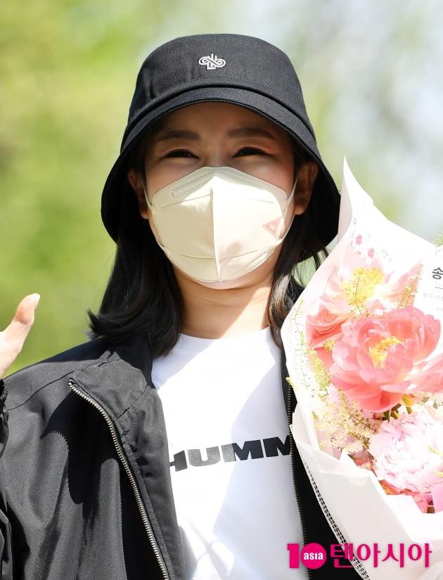 [TEN 포토] 송가인 '행복한 꽃미소'