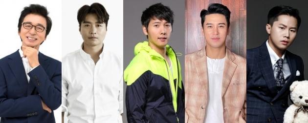 '오늘은 골프왕' 김국진(왼쪽), 이동국, 이상우, 장민호, 양세형/ 사진=TV조선 제공