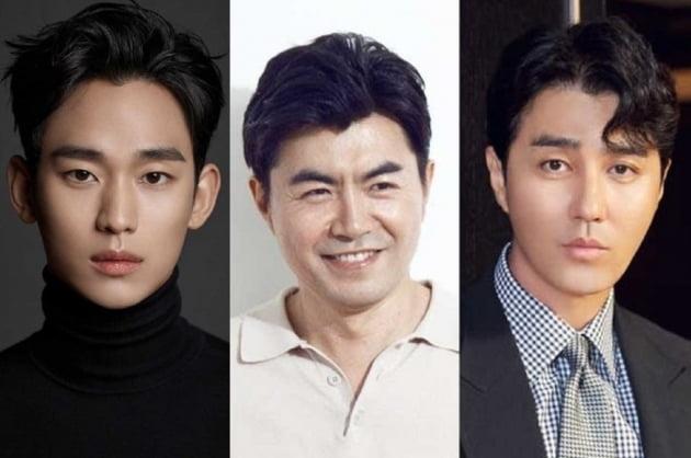 배우 김수현(왼쪽부터), 이명우 감독, 차승원/ 사진제공=더 스튜디오 엠
