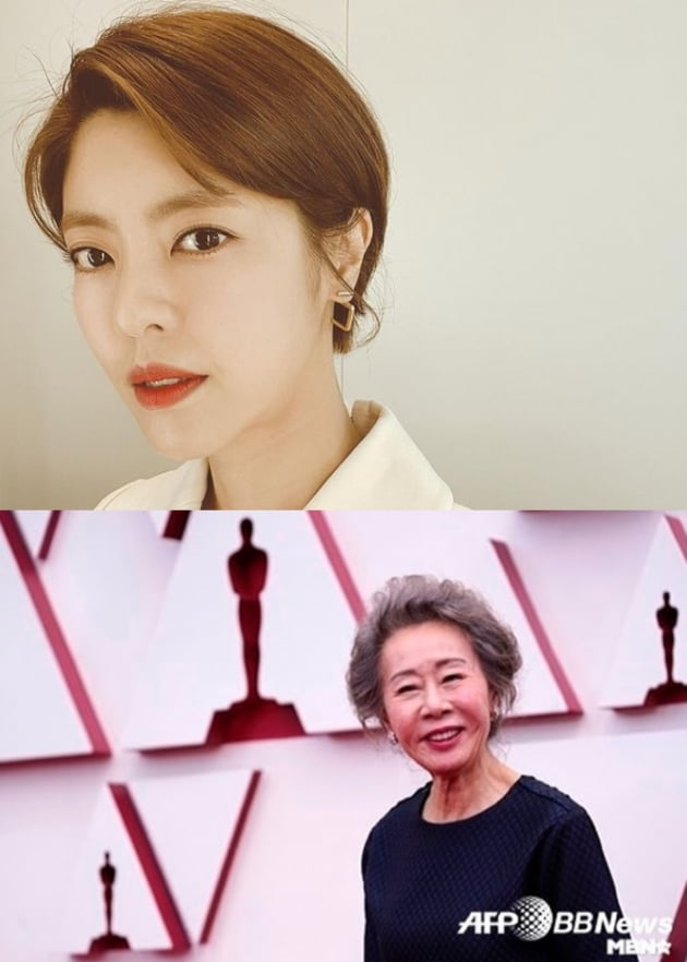 배우 이윤지(위), 윤여정/ 사진=인스타그램